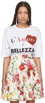 Dolce & Gabbana White Lamore È Belezza T-Shirt