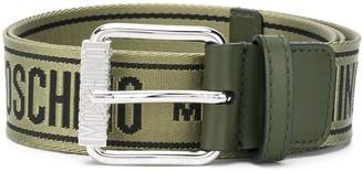 Moschino Logo Pattern Belt