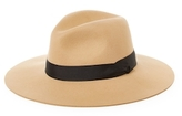 Saks Fifth Avenue Wool Fedora with Ribbon Trim