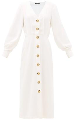 Haight Camila Pleated Midi Dress - Womens - White