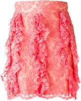 Francesco Scognamiglio lace mini skirt - women - Silk/Cotton/Polyamide/Viscose - 38