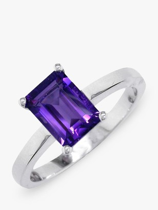 N. E.W Adams 9ct White Gold Baguette Ring,