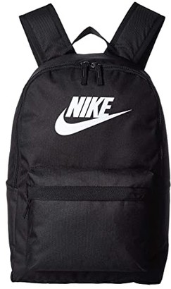 Nike Heritage Backpack 2.0 (Black/Black/White) Backpack Bags