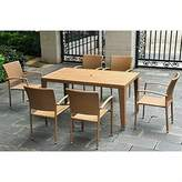 International Caravan Barcelona 7 Piece Wicker Patio Dining Set