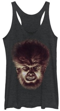 Fifth Sun Universal Monsters Women's Wolfman Big Face Tri-Blend Tank Top