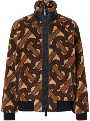 Burberry Monogram Fleece Jacquard Jacket