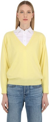 Luisa Via Roma V Neck Cashmere Knit Sweater