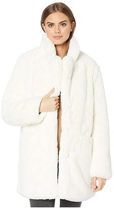 Apparis Sophie 2 Faux Fur Coat (Sand) Women's Jacket