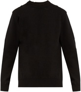 Balenciaga Wool-blend distressed-knit sweater