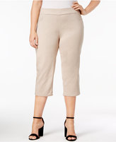 JM Collection Plus Size Tummy-Control Pull-On Capri Pants, Created for Macy's