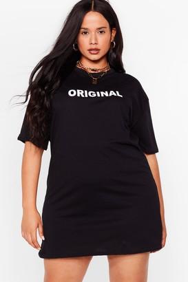 Nasty Gal Womens How Original Plus Graphic Tee Dress - Black