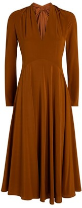 Victoria Beckham Cut-Out Silk Dress