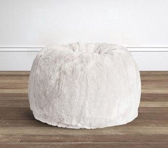 Pottery Barn Kids Gray Faux Fur Anywhere Beanbag