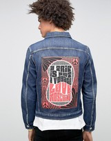 Love Moschino Denim Jacket with Back Print