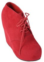 Hailey Jeans Co. Woman Lace-up Wedge Bootie