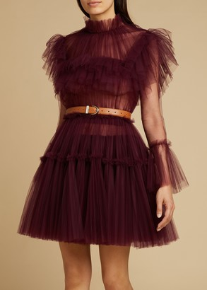 KHAITE The Paula Dress in Bordeaux