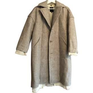 Pas De Calais Grey Tweed Coat for Women