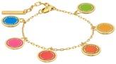 Marc Jacobs Logo Disc Rainbow Statement Bracelet Bracelet