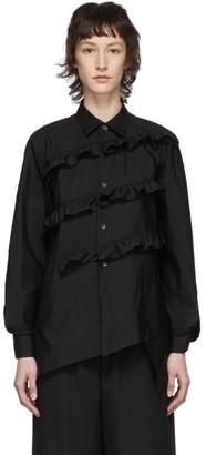 Comme des Garçons Comme des Garçons Black Broad Diagonal Ruffle Shirt