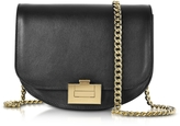 Victoria Beckham Black Leather Box With Chain Shoulder Bag