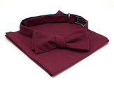 General Knot & Co Bordeaux Requisite Bow Tie & Pocket Square Set