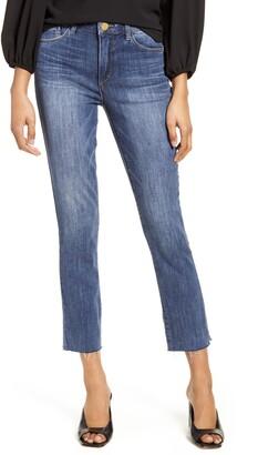 Wit & Wisdom Ab-Solution High Waist Raw Hem Skinny Crop Jeans