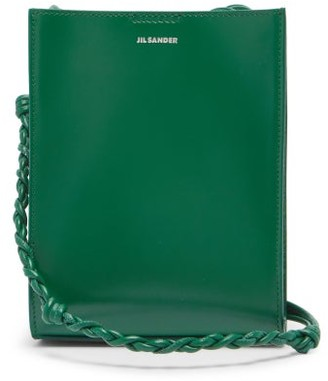 Jil Sander Tangle Small Braided-strap Leather Cross-body Bag - Green