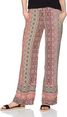 Amy Byer A. Byer Women's Border Print Woven Wide Leg Pant
