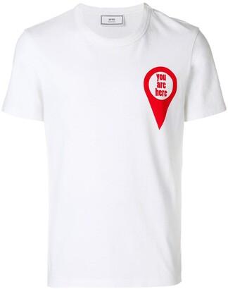 Ami Paris T-shirt print You Are Here