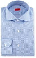Isaia Micro-Print Dress Shirt, French Blue