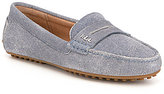 Lauren Ralph Lauren Belen Denim Suede Slip-On Casual Drivers