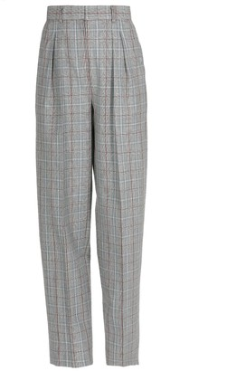 Tory Burch Wool Plaid Trousers