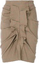 Etoile Isabel Marant ruffled tweed skirt - women - Cotton/Elastodiene - 36