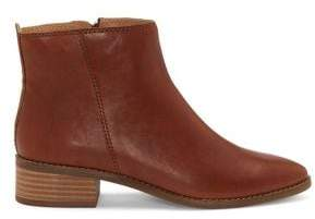 Lucky Brand Lenree Snake-Print Leather Booties