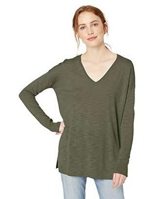 Daily Ritual Women's Lightweight V-Neck Tunic Sweater,S
