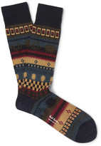Paul Smith Fair Isle Knitted Socks - Multi