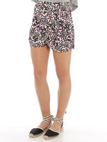 Glamorous New Womens Cream Floral Shorts In Soft Pink Shorts Printed