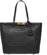 Moschino Embellished Textured-leather Tote - Black