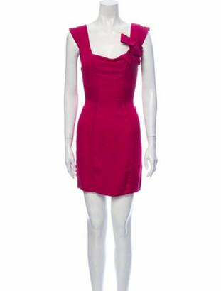 Valentino 2009 Mini Dress Pink