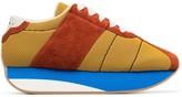 Marni Multi coloured suede mesh sneakers