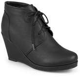 Women's Journee Collection Gentry Lace-Up Wedge Booties