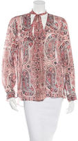 Alice + Olivia Paisley Long Sleeve Blouse