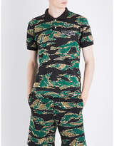 A Bathing Ape Reflective Shark-print Camo Cotton-jersey Polo Shirt