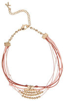 Kensie Lace Multi Chain Silvertone Necklace