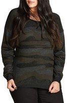 City Chic Plus Size Women's Camo Fever Sweater