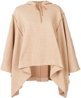 See by Chloe poncho style hoodie - women - Cotton/Polyester - S