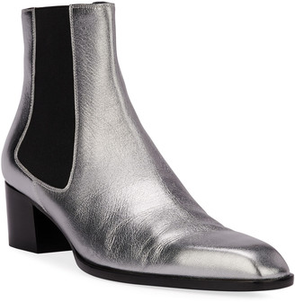 Tom Ford Metallic Pull-On Booties