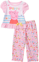 Komar Kids Pink Peppa Pig Pants Pajama Set - Toddler