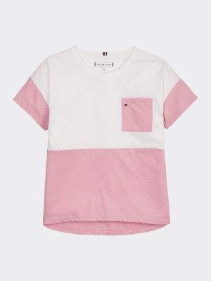 Tommy Hilfiger Colour-Blocked Crew Neck T-Shirt