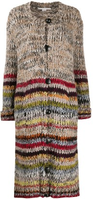 Stella McCartney Long Striped-Knit Cardigan